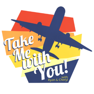 Media & Press - Take Me With You podcast logo. TMWY featured Hilary on a podcast about sustainable tourism.