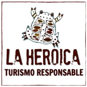 Media & Press - La Heroica logo. La Heroica interviewed Hilary about sustainable tourism.
