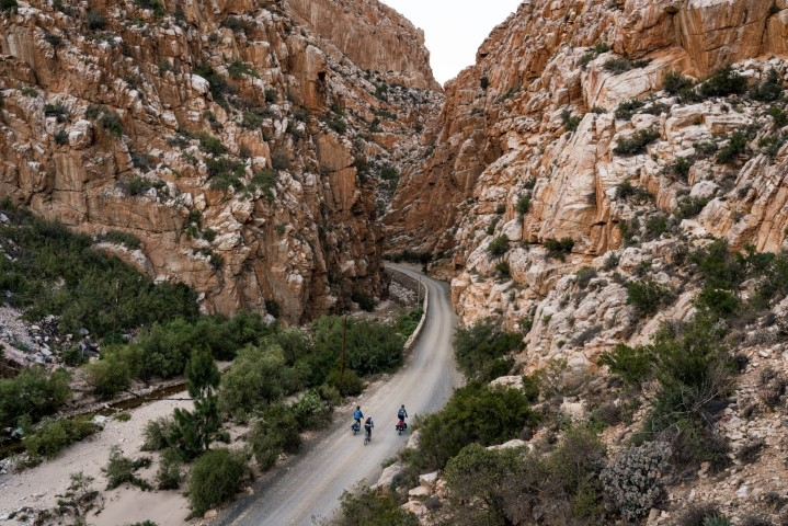 Cyclists in Karoo Region South Africa