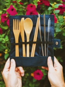 Keepsie Kits - Bamboo Cutlery with Stainless Steel Straw