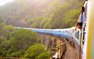 Taking a train is a great way to travel sustainably and avoid air travel.